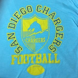 NFL Team Apparel San Diego Chargers XS Crop Top